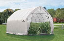 ShelterLogic Foliengewächshaus, Gewächshaus, Tomatengewächshaus 24,4 m² // 390x610 cm (BxT) // Folienhaus & Tomatenhaus * EXKLUSIVPRODUKT * -